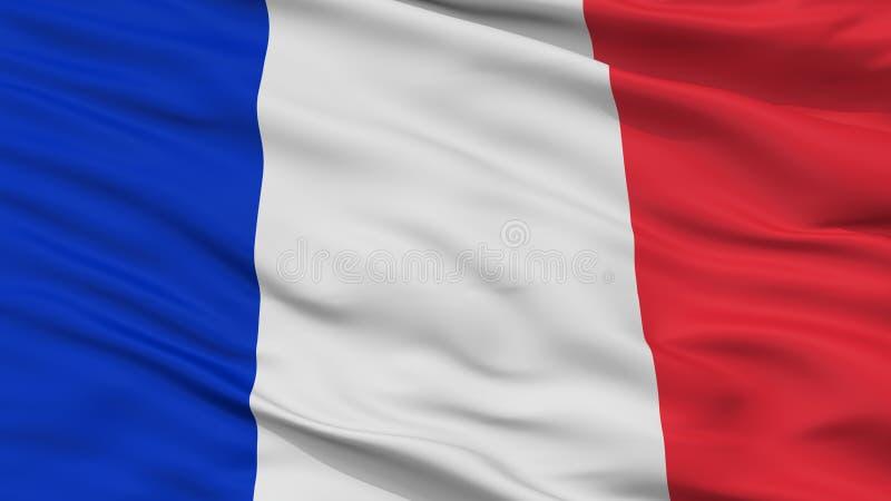 Гражданский и военноморской Ensign взгляда крупного плана флага Франции иллюстрация вектора