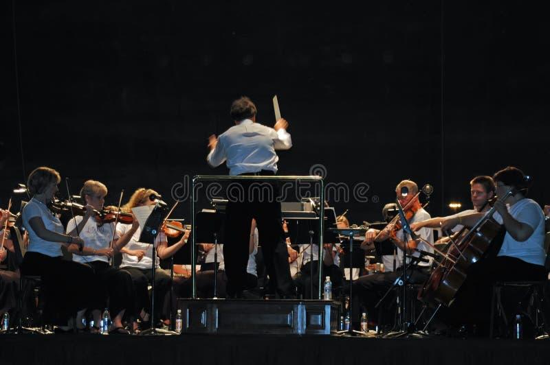 гражданский оркестр филармонический стоковое фото rf