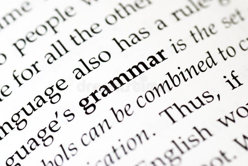 грамматика стоковое изображение