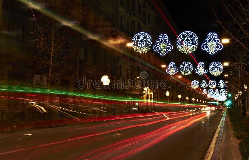 Гранада на рождестве стоковая фотография rf