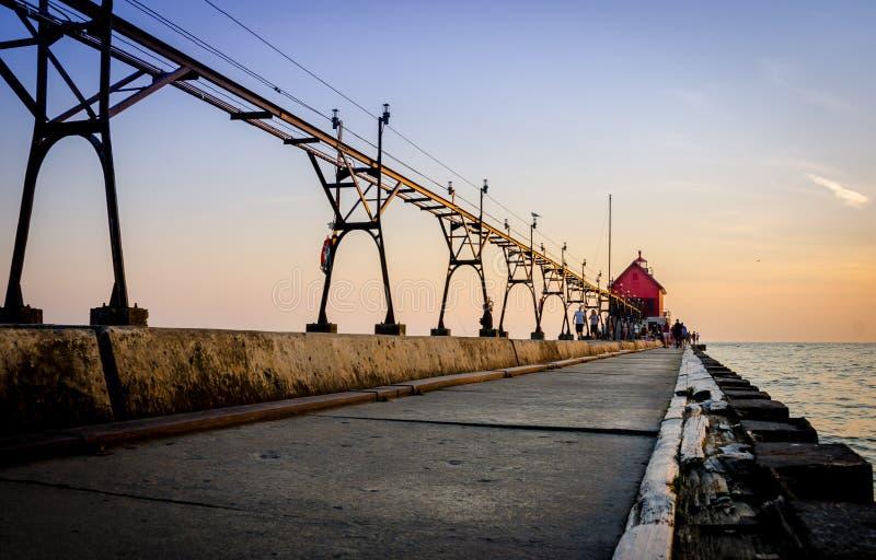 Грандиозная гавань Мичиган стоковая фотография