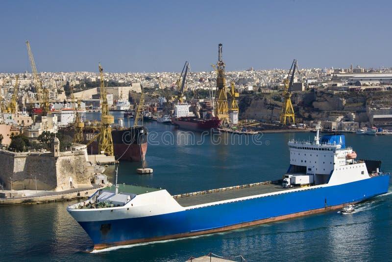 грандиозная гавань malta valletta стоковое изображение rf