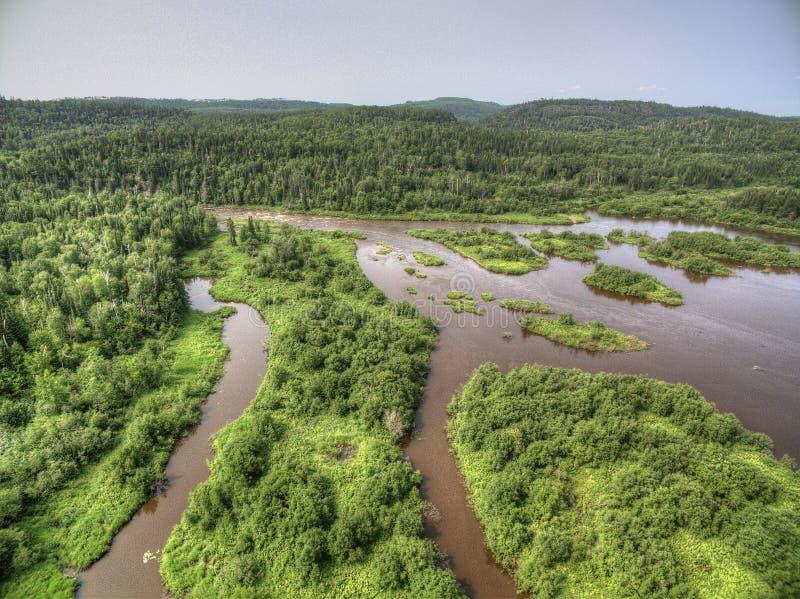 Грандиозная индейская резервация Portage на значительно северном угле Минесоты граничит Онтарио, Канаду стоковые изображения rf