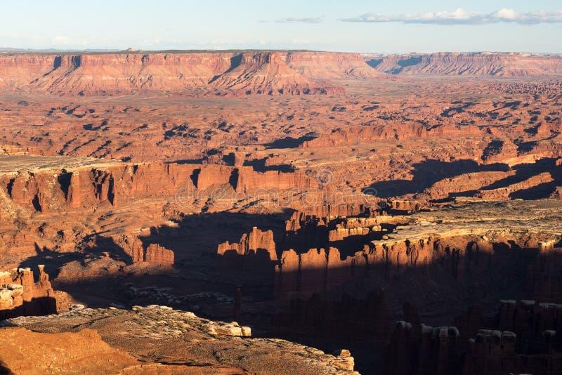 Грандиозная точка зрения обозревает, от национального парка Юты Canyonlands стоковое изображение