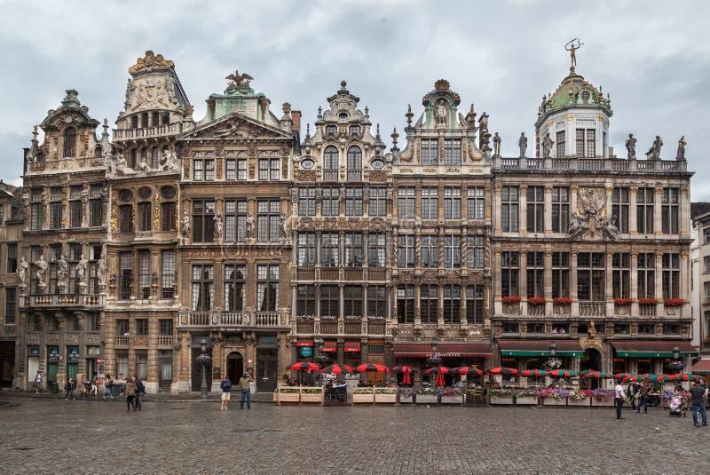 Грандиозное место Брюссель Бельгия стоковое фото