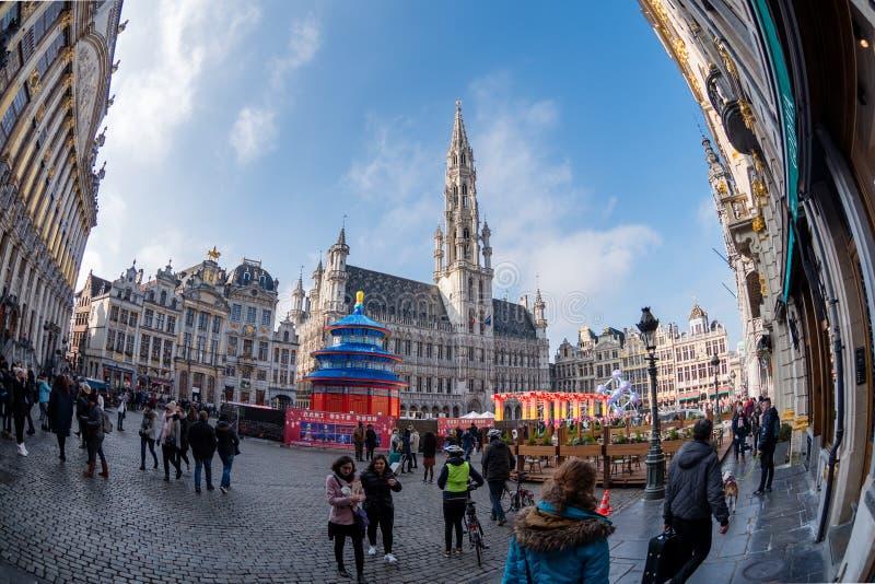 Грандиозное место Брюсселя Бельгии стоковые фотографии rf