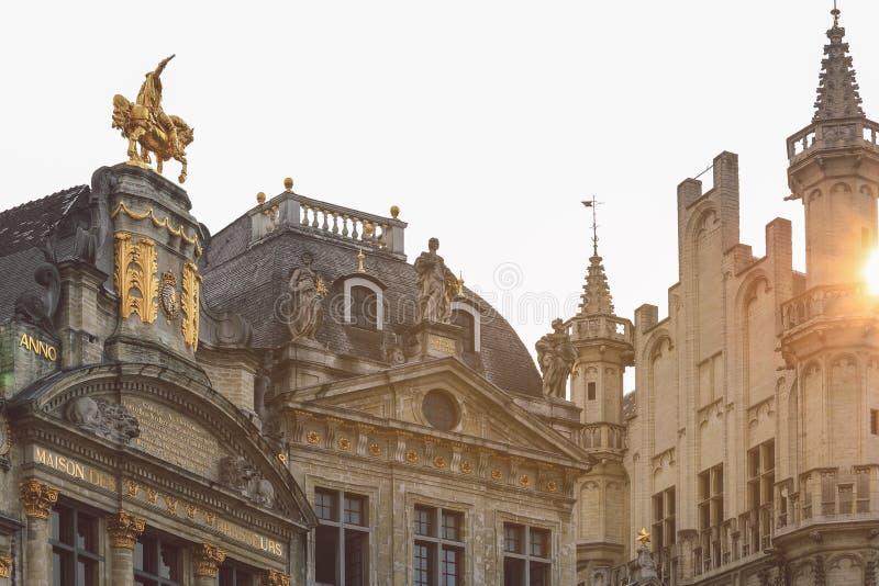 Грандиозное место в Brussel, Бельгии стоковое фото rf
