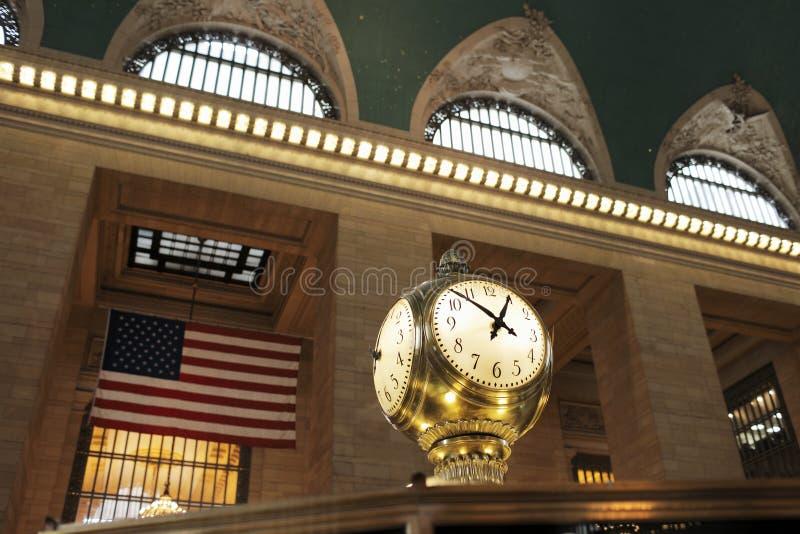 Грандиозные часы центрального стержня стоковые изображения rf