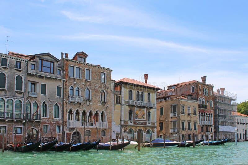 Грандиозный канал в Венеции Италии стоковое фото rf