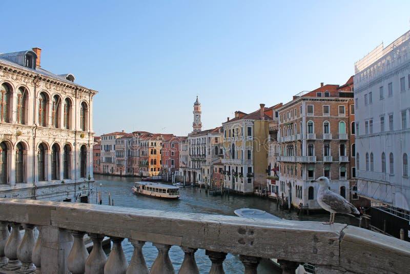 Грандиозный канал в Венеции Италии стоковая фотография rf