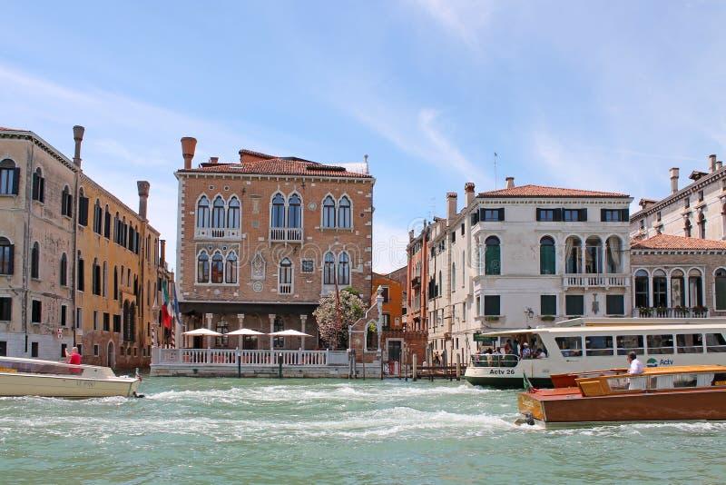Грандиозный канал в Венеции Италии стоковая фотография