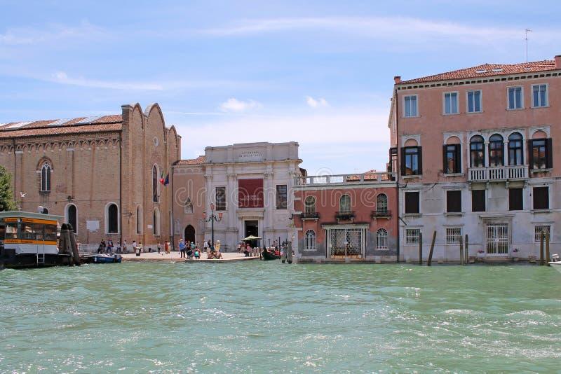 Грандиозный канал в Венеции Италии стоковые изображения