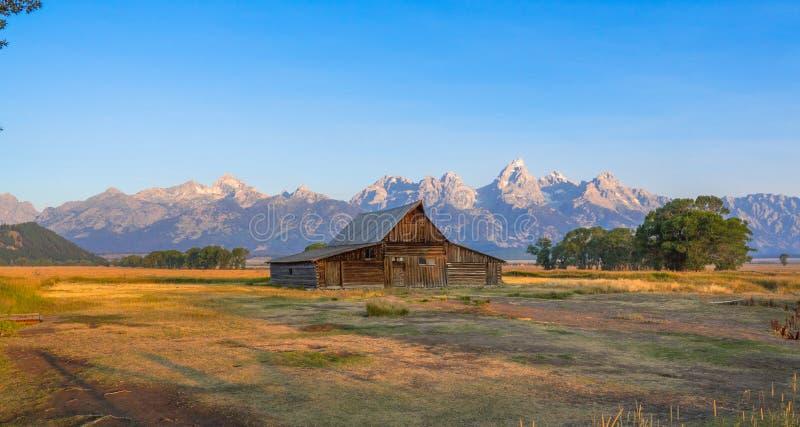 Грандиозный национальный парк Teton, WY, США стоковые изображения rf
