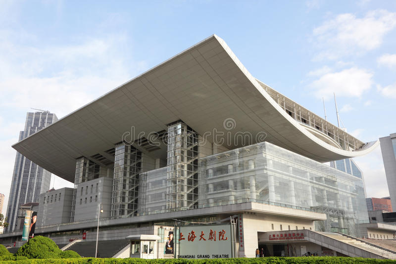 грандиозный театр shanghai стоковые фото