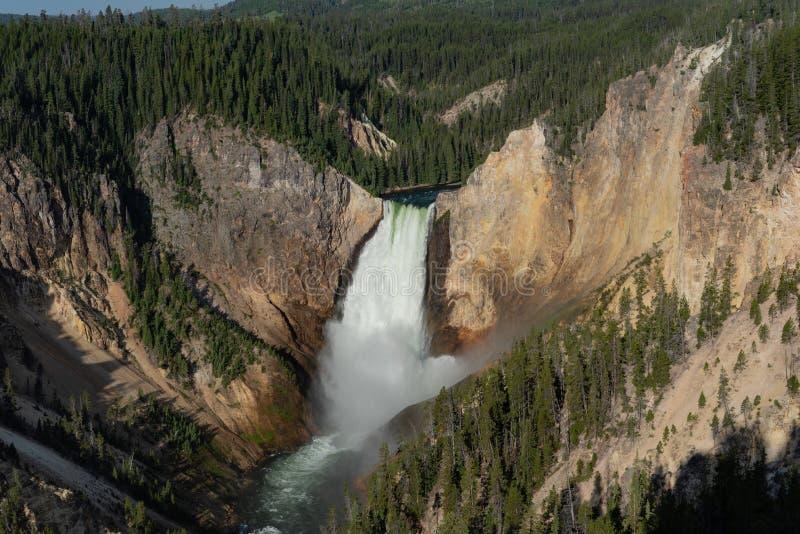 Гранд-каньон водопадов Йеллоустона стоковые изображения rf