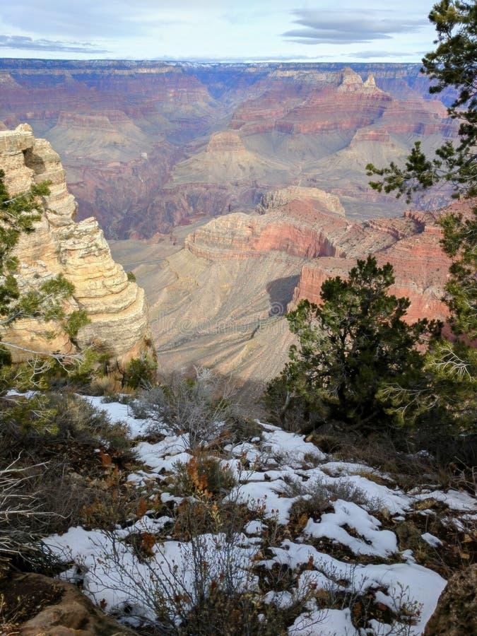 Гранд-каньон на день Snowy стоковое фото