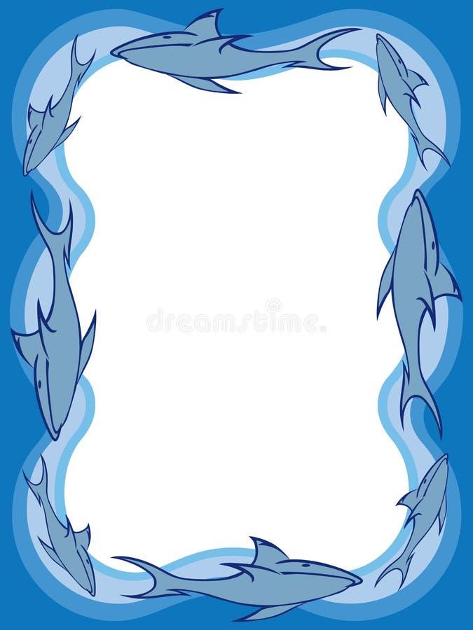 Граница 2 акулы иллюстрация штока