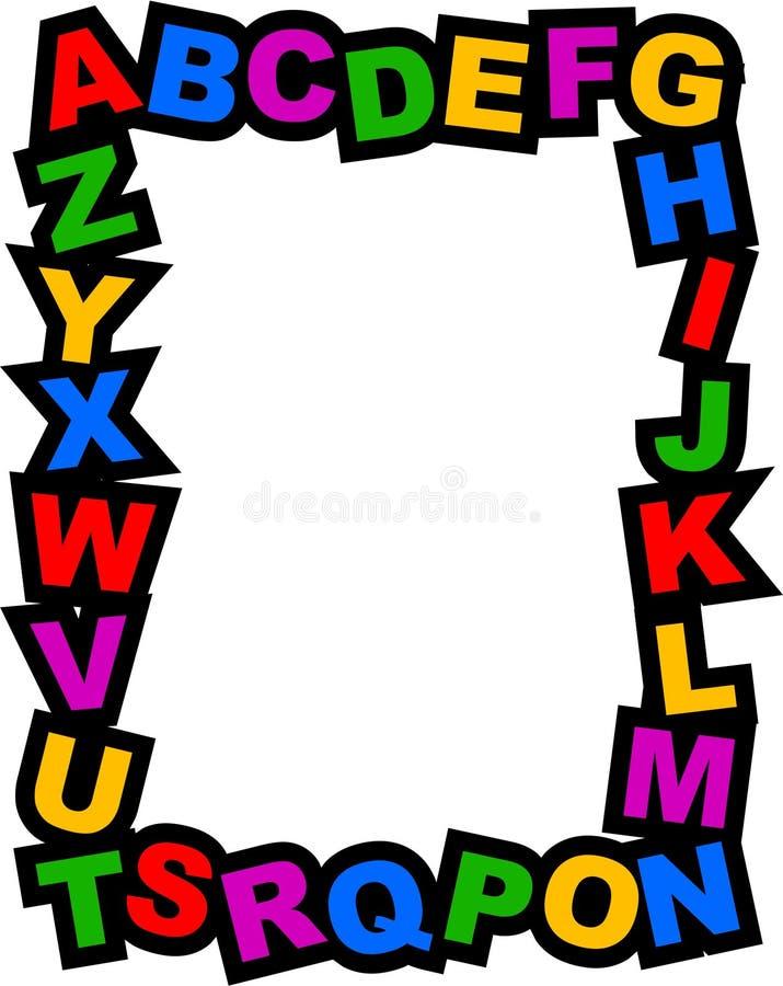 граница алфавита Стоковые Фото