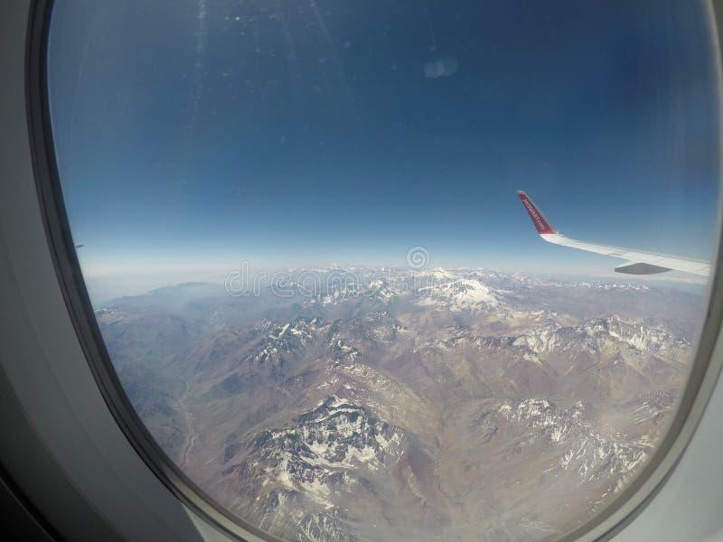 Граница Аргентины и Чили стоковые фото
