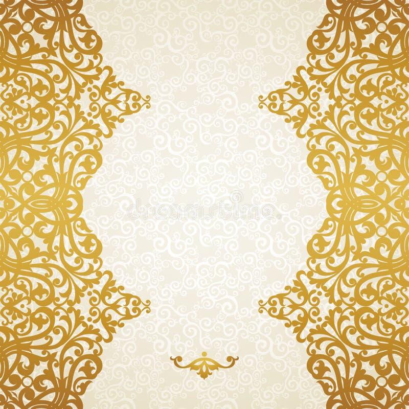 Граница вектора безшовная в викторианском стиле. иллюстрация вектора