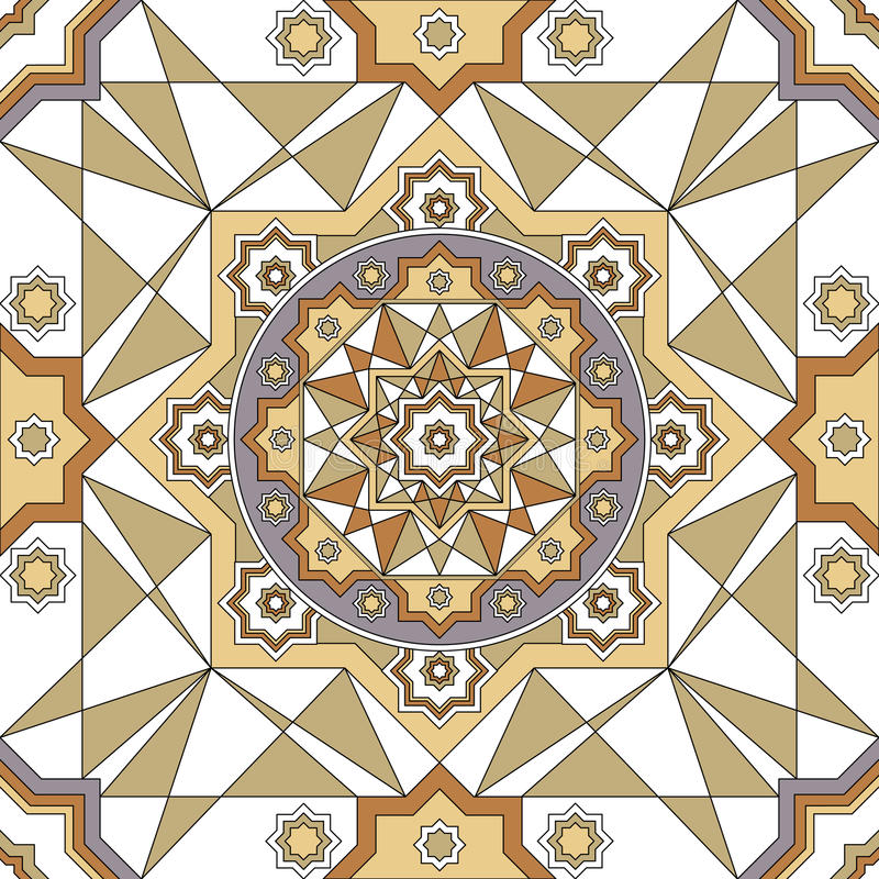 Граница вектора богато украшенная безшовная в восточном стиле Линия элемент искусства для дизайна, места для текста Орнаментальна иллюстрация штока