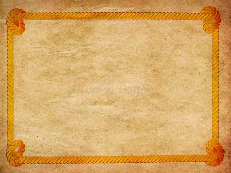 Граница веревочки на бумаге бесплатная иллюстрация