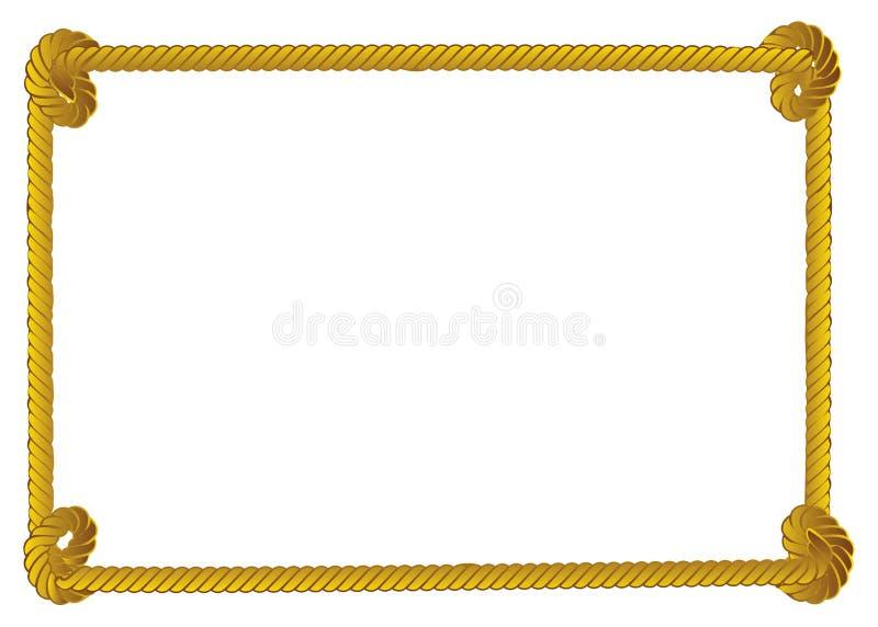 Граница веревочки иллюстрация вектора