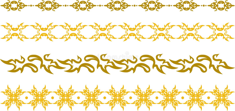Граница золота флористическая иллюстрация вектора
