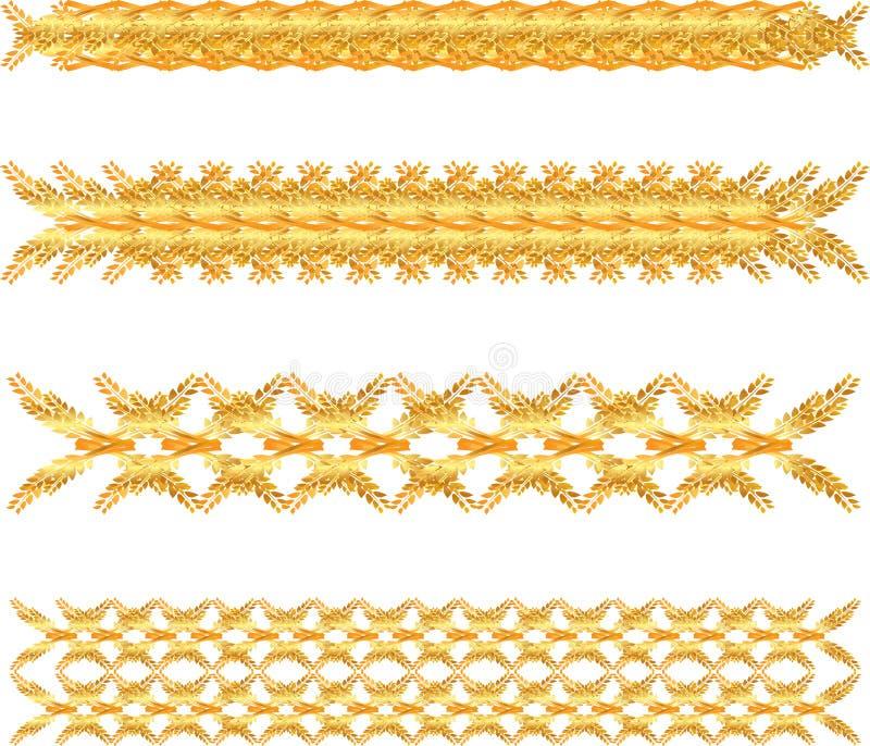 Граница золота флористическая иллюстрация штока