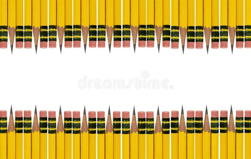 Граница истирателя карандаша стоковая фотография