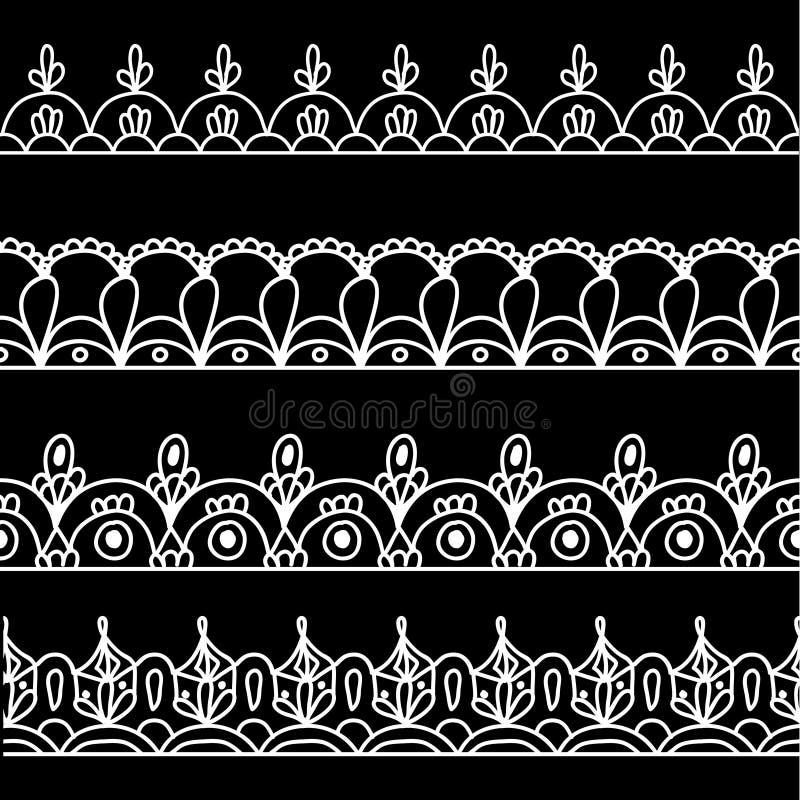 Граница иллюстрации шнурка установленная белая бесплатная иллюстрация