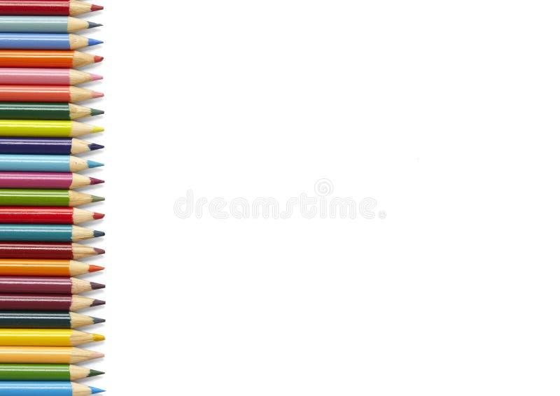 Граница карандаша расцветки - белизна стоковое фото