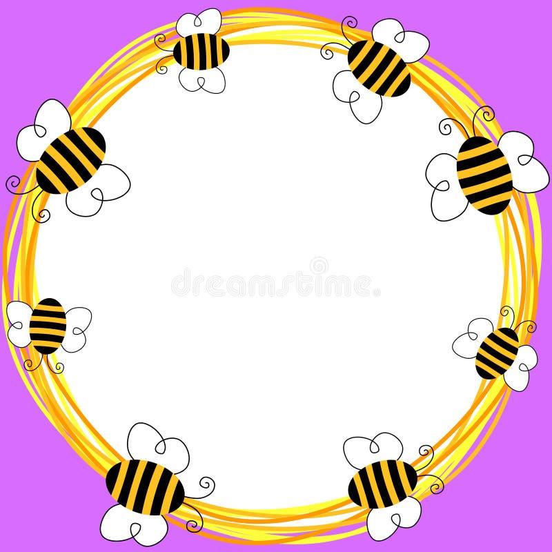 Граница карточки приглашения пчел бесплатная иллюстрация