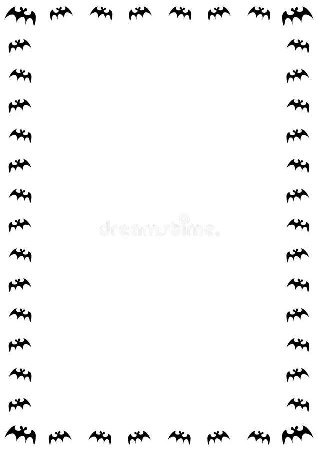 граница летучей мыши иллюстрация вектора