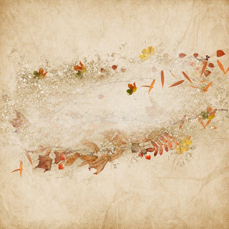 Граница листьев и жолудей осени бесплатная иллюстрация