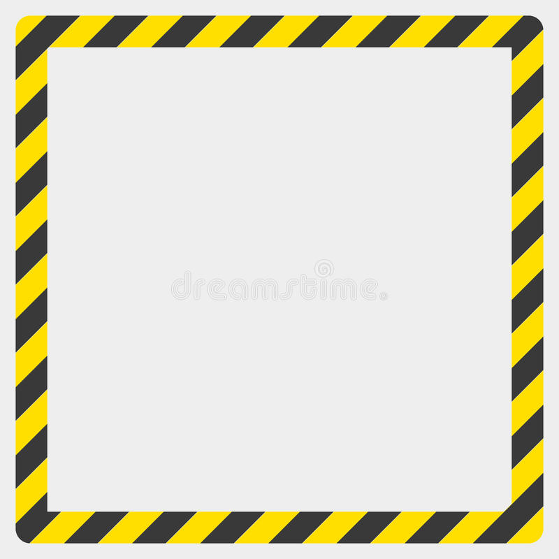 Граница на белой предпосылке, иллюстрация конструкции предупреждающая стоковые фото