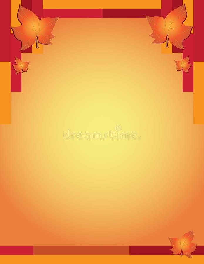 Граница падения и осени современная с листьями бесплатная иллюстрация