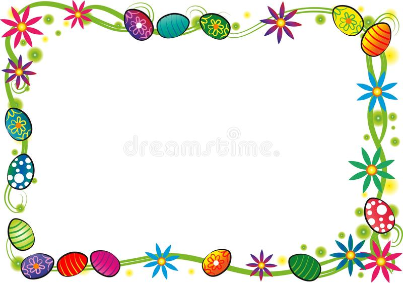 граница пасха счастливая иллюстрация штока
