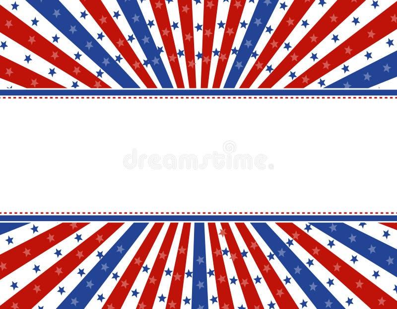 граница предпосылки патриотическая иллюстрация вектора