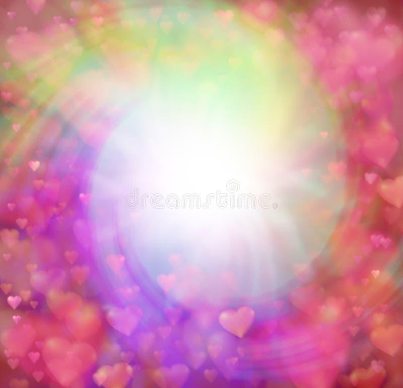 Граница предпосылки сердец влюбленности завихряясь иллюстрация штока