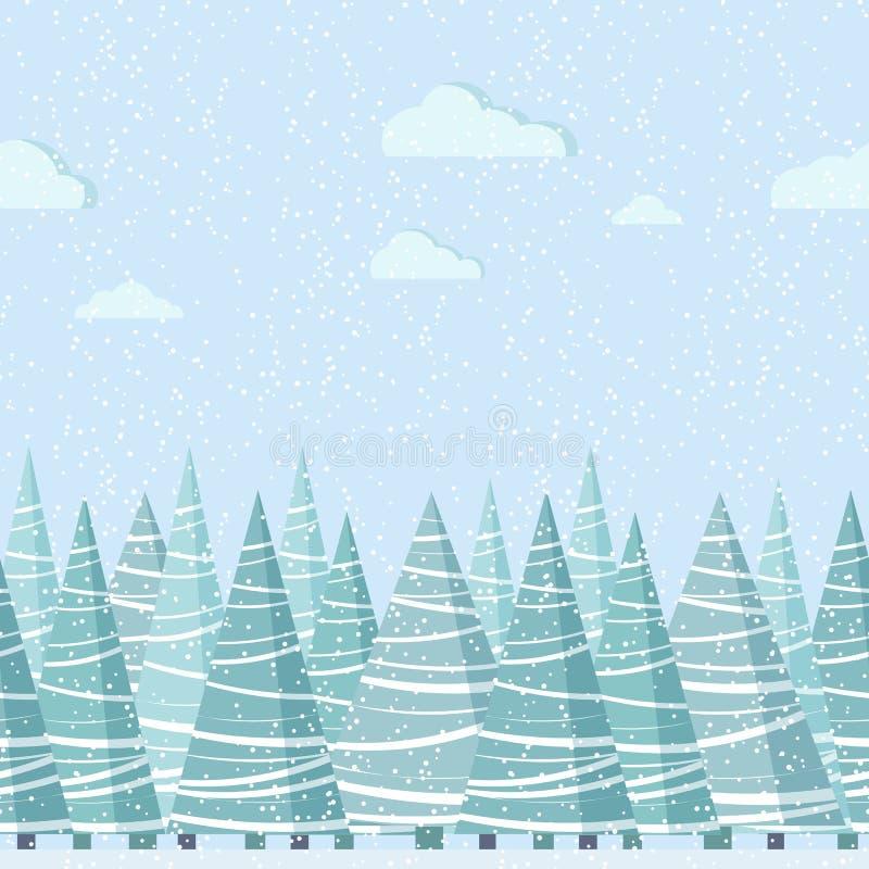 Граница природы вектора безшовная для шаблона дизайна иллюстрация штока