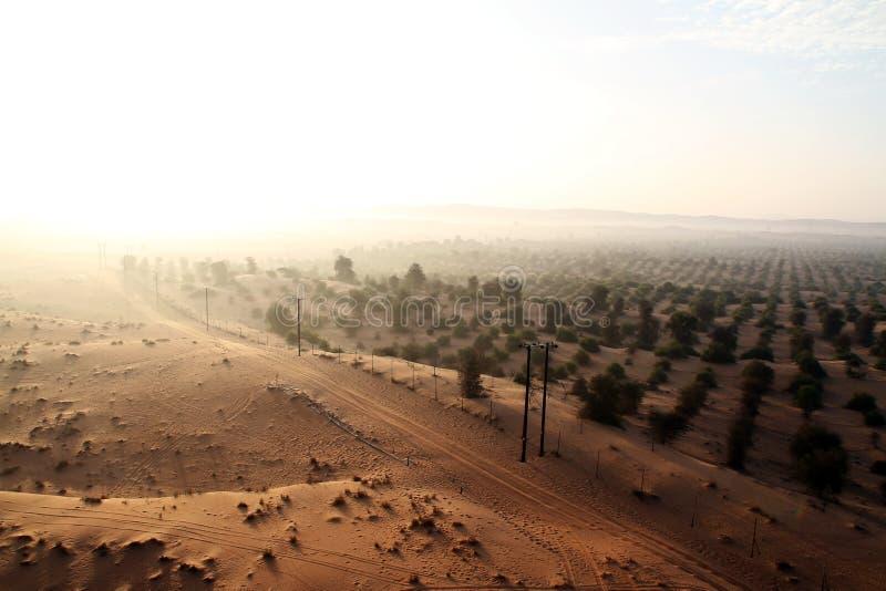 Граница пустыни в ОАЭ стоковая фотография