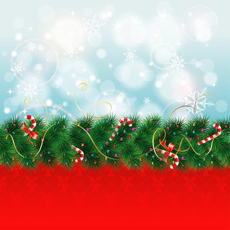 Граница рождества иллюстрация штока