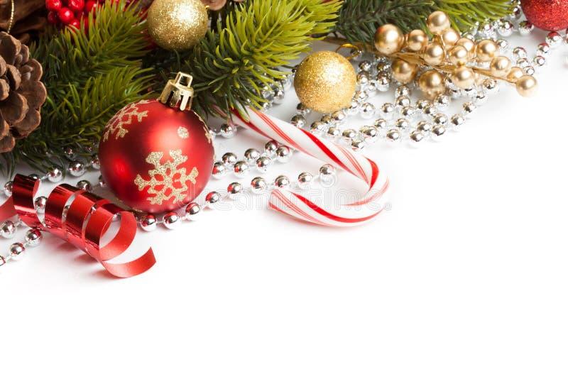 Граница рождества с орнаментом стоковое изображение rf