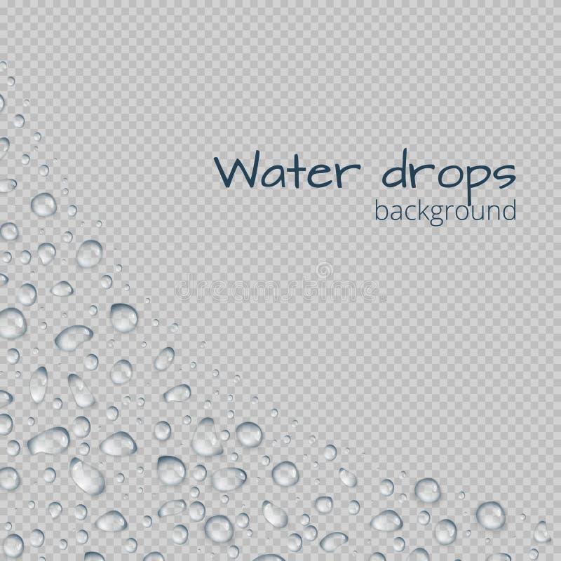 Граница с капельками воды иллюстрация штока