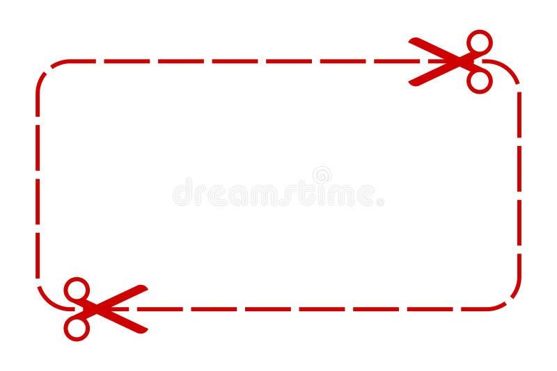 Граница талона - вектор запаса иллюстрация штока