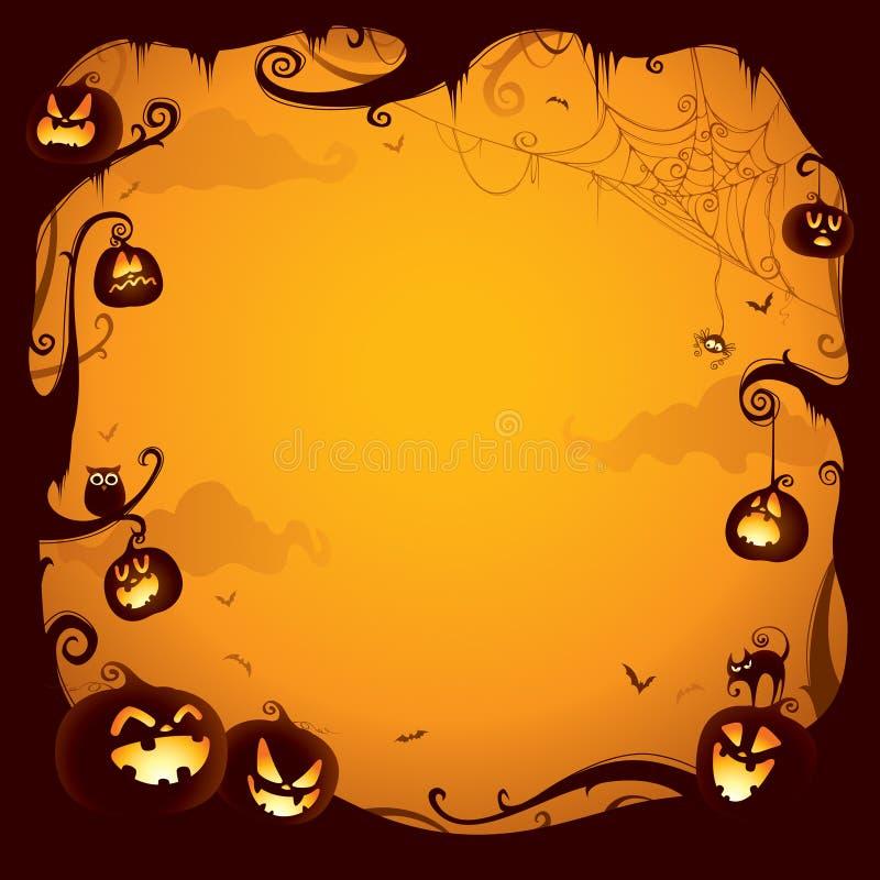 Граница тыквы хеллоуина для дизайна бесплатная иллюстрация