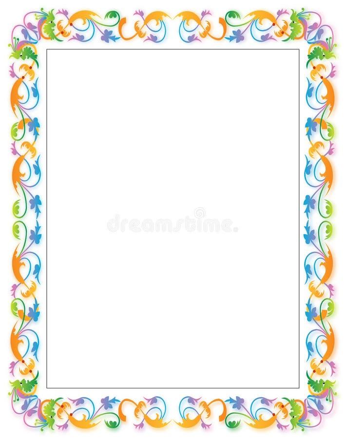 граница флористическая иллюстрация вектора