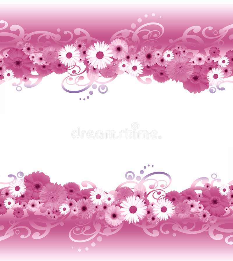Граница цветка иллюстрация штока