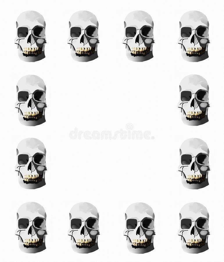 Download Граница черепа иллюстрация штока. иллюстрации насчитывающей бело - 40583250
